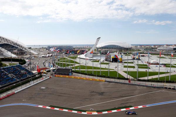 Sochi Autodrom, Sochi, Russia. Saturday 10 October 2015. Felipe Nasr, Sauber C34 Ferrari. World Copyright: Alastair Staley/LAT Photographic. ref: Digital Image _79P0126