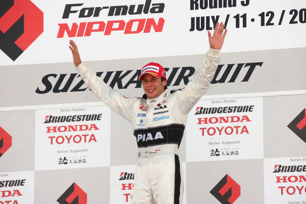 2009 Formula Nippon Championship.Suzuka, Japan. 11th - 12th July 2009.Rd5  - Winner Loic Duval ( #31 NAKAJIMA RACING ), podium, portrait .World Copyright: Yasushi Ishihara/LAT Photographicref: Digital Image 2009FN_Rd5_005