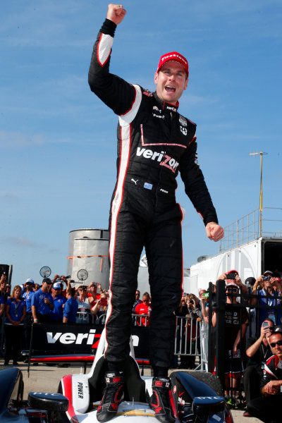 16-17 August, 2014, West Allis, Wisconsin USA Will Power celebrates in victory lane ?2014, Lesley Ann Miller LAT Photo USA