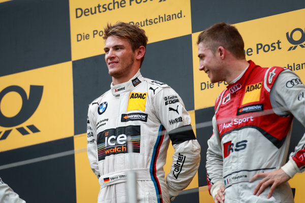2014 DTM Championship Round 7 - Nurburgring, Germany 15th - 17th August 2014 Podium, Marco Wittmann (GER) BMW Team RMG BMW M4 DTM World Copyright: XPB Images / LAT Photographic  ref: Digital Image 3257271_HiRes