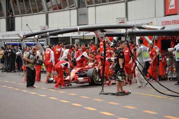 Kimi Raikkonen (FIN) Ferrari F139. Formula One World Championship, Rd6, Monaco Grand Prix, Practice, Monte-Carlo, Monaco, Thursday 22 May 2014.