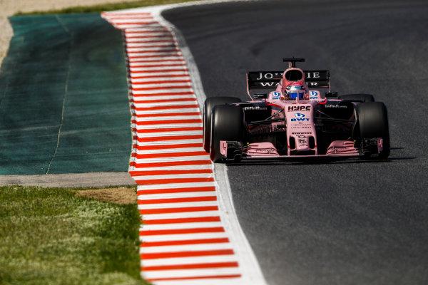 Circuit de Catalunya, Barcelona, Spain. Saturday 13 May 2017. Sergio Perez, Force India VJM10 Mercedes. World Copyright: Steven Tee/LAT Images ref: Digital Image _O3I4710