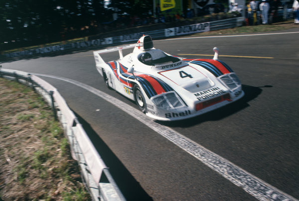 Le Mans, France. 11th - 12th June 1977 Jurgen Barth/Hurley Haywood/Jacky Ickx (Porsche 936/77), 1st position, action. World Copyright: LAT PhotographicRef: 77LM12.