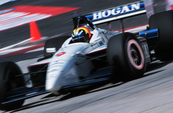 1999 CART Long Beach Grand Prix.Long Beach, California, USA.18 April 1999.Helio Castro-Neves (Hogan Racing Lola B99/00-Mercedes-Benz), 19th position.World - Michael L. Levitt/LAT Photographic