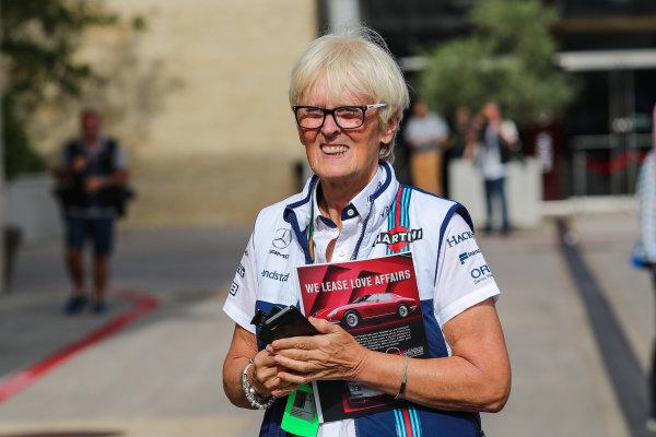 Annie Bradshaw (GBR) Williams Press Pfficer at Formula One World Championship, Rd17, United States Grand Prix, Preparations, Circuit of the Americas, Austin, Texas, USA, Thursday 19 October 2017.