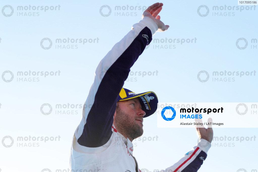 Sam Bird (GBR), Envision Virgin Racing, celebrates on the podium