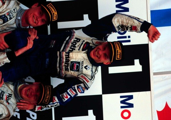 1997 European Grand Prix.Jerez, Spain.24-26 October 1997.Jacques Villeneuve (Williams Renault) after clinching the World Championship.World Copyright - LAT Photographic