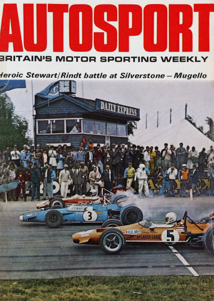 Cover of Autosport magazine, 25th July 1969