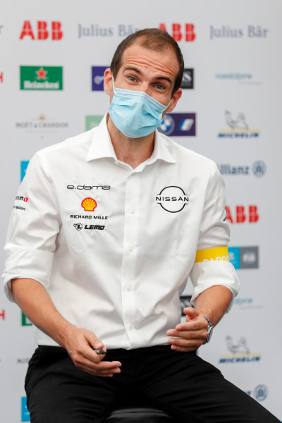 Tommaso Volpe, Nissan Global Motorsports Director, in the press conference