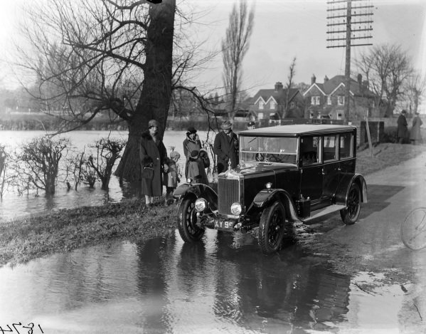 Standard on a flooded road.