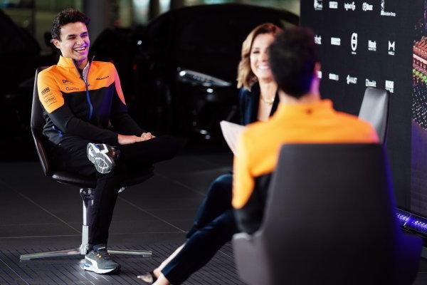 Daniel Ricciardo and Lando Norris 2021 MCL35M Launch
