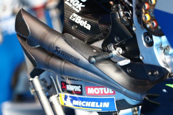 Bike of Alex Rins, Team Suzuki MotoGP.
