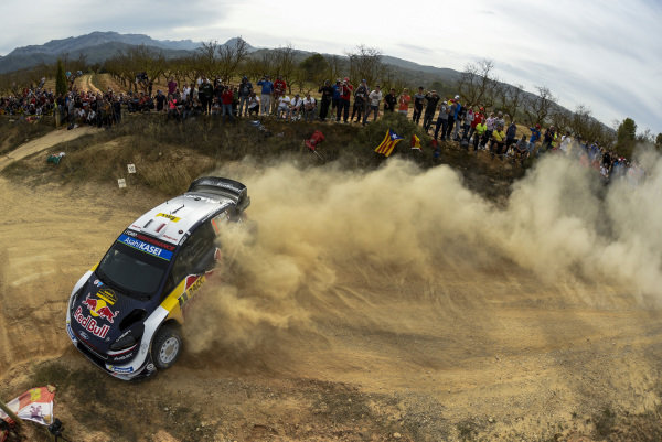 Sébastien Ogier, M-Sport Ford, Ford Fiesta WRC 2018, in action on Day 2 of Rally Catalunya, Spain.