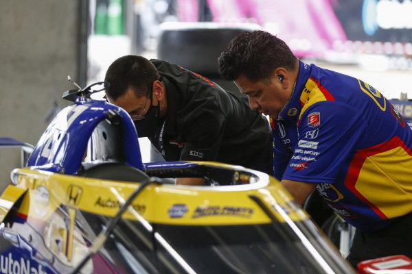 #27: Alexander Rossi, Andretti Autosport Honda, Crew