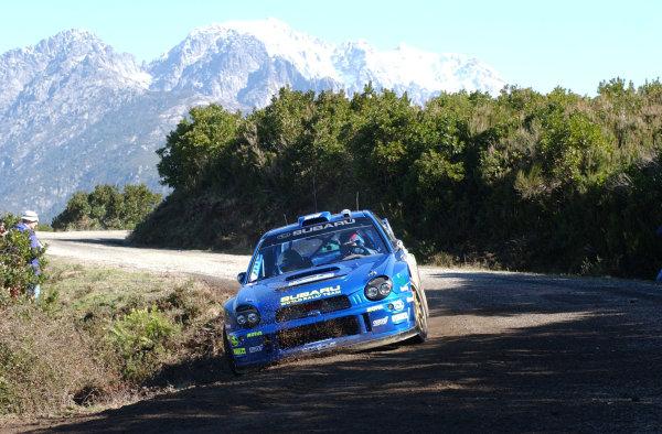 2002 World Rally ChampionshipInmarsat Corsica Rally, 8th-10th March 2002.Petter Solberg during shakedown.Photo: Ralph Hardwick/LAT