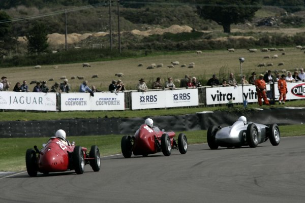 2007 Goodwood Revival Meeting.  Goodwood, West Sussex. 1st - 2nd September 2007.  Richmond Trophy.  Mark Hales chases Barry Baxter and Rod Jolley out of Lavant. World Copyright: Gary Hawkins/LAT Photographic  ref: Digital Image Only