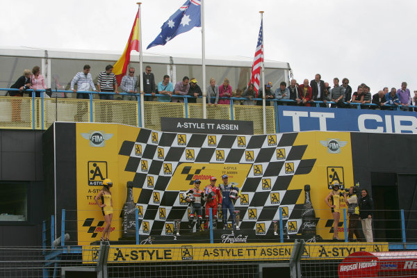TT Circuit Assen, Netherlands. 28th June 2008.MotoGP Race.MotoGP Podium.World Copyright: Martin Heath / LAT Photographicref: Digital Image Only