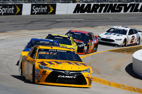 1-3 April, 2016, Martinsville, Virginia USA Kyle Busch, M&M's 75th Anniversary Toyota Camry and Brian Vickers ?2016, Russell LaBounty LAT Photo USA