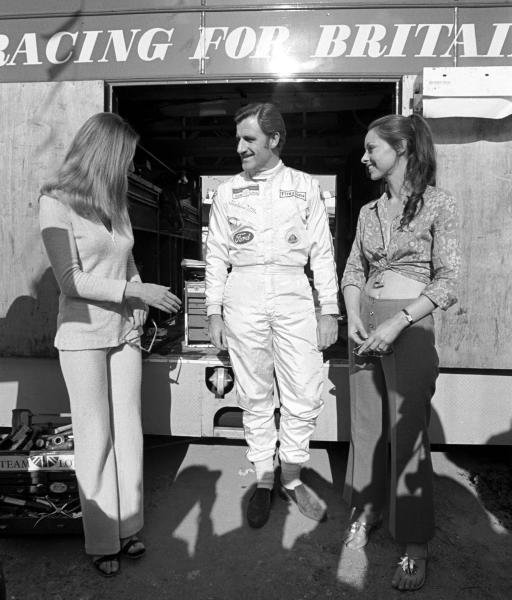 Graham Hill(GBR) does his bit for the Sponsors Spanish GP, Montjuich Park, 4 May 1969