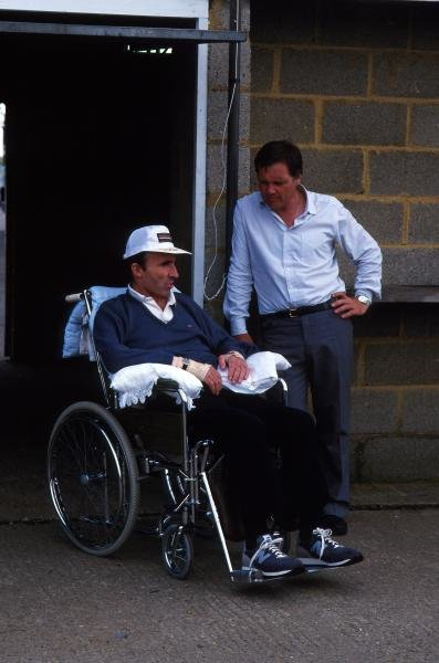 Frank Williams, just after his accident and Patrick HeadFormula One World Championship, 1987