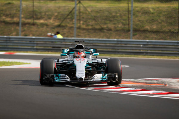 Hungaroring, Budapest, Hungary.  Wednesday 02 August 2017. George Russell, Mercedes F1 W08 EQ Power+, with halo. World Copyright: Joe Portlock/LAT Images  ref: Digital Image _L5R2002
