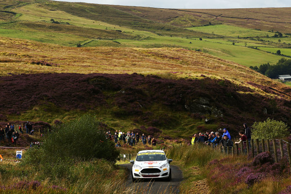 2017 British Rally Championship, Ulster Rally, Londonderry. 18th - 19th August 2017. Oscar Solberg / Patrik Barth Ford Fiesta R2T World Copyright: JEP/LAT Images.