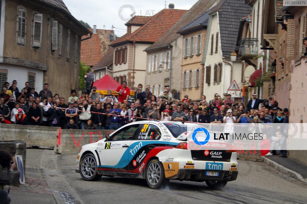 Round 11Rally de France 30/9-3/10Armindo Araujo, Mitsubishi PWRC, Action.Worldwide Copyright: McKlein/LAT