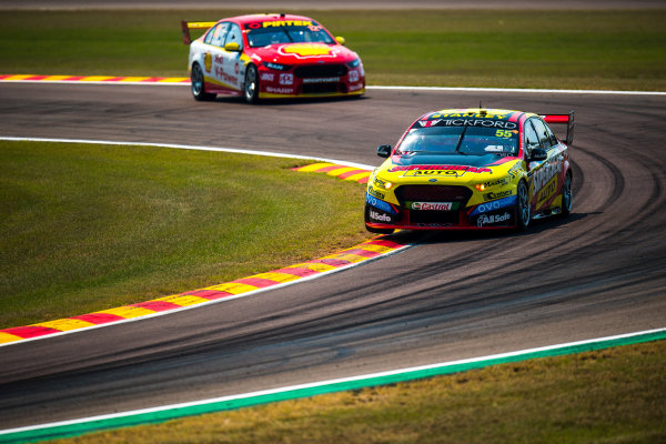 2017 Supercars Championship Round 6.  Darwin Triple Crown, Hidden Valley Raceway, Northern Territory, Australia. Friday June 16th to Sunday June 18th 2017. Chaz Mostert drives the #55 Supercheap Auto Racing Ford Falcon FGX. World Copyright: Daniel Kalisz/LAT Images Ref: Digital Image 160617_VASCR6_DKIMG_0202.JPG
