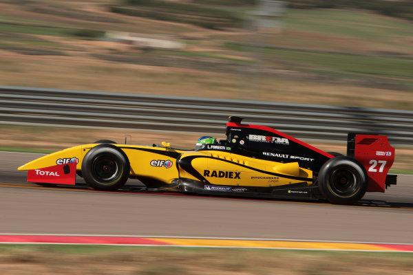 ALCANIZ (ESP) MAY 4-6 2012 -  First Round of the Formula Renault 3 5 Series 2012 at Motorland Aragon. Lucas Foresti #27 Dams. Action. © 2012 Sebastiaan Rozendaal / LAT Photographic