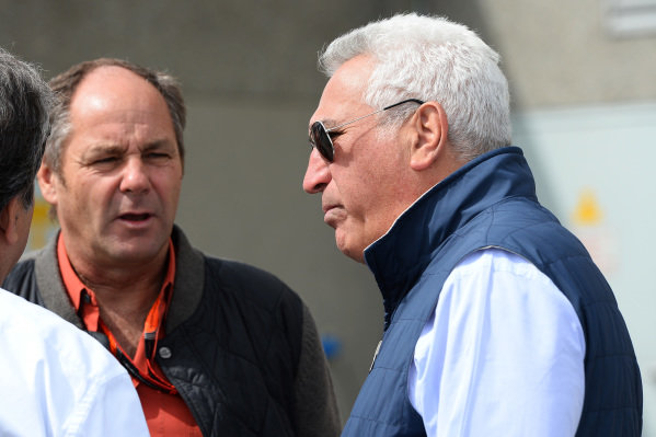 Pasquale Lattuneddu (ITA) of the FOM, Gerhard Berger (AUT) and Lawrence Stroll (CDN) Mont Tremblant Race Circuit Owner at Formula One World Championship, Rd7, Canadian Grand Prix, Race, Montreal, Canada, Sunday 7 June 2015.