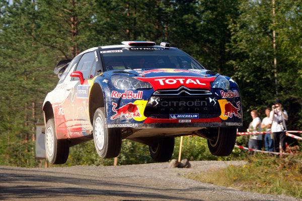 Round 8, Rally Finland, 28th - 30th July 2011Sebastien Loeb, Citroen, ActionWorldwide Copyright: LAT/McKlein