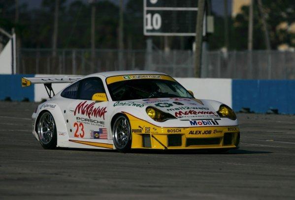 Timo Bernhard (GER) Alex Job Racing Porsche 911 GT3-RSR.American Le Mans Series Testing, Sebring, USA, 31 January - 3 February 2005.DIGITAL IMAGE
