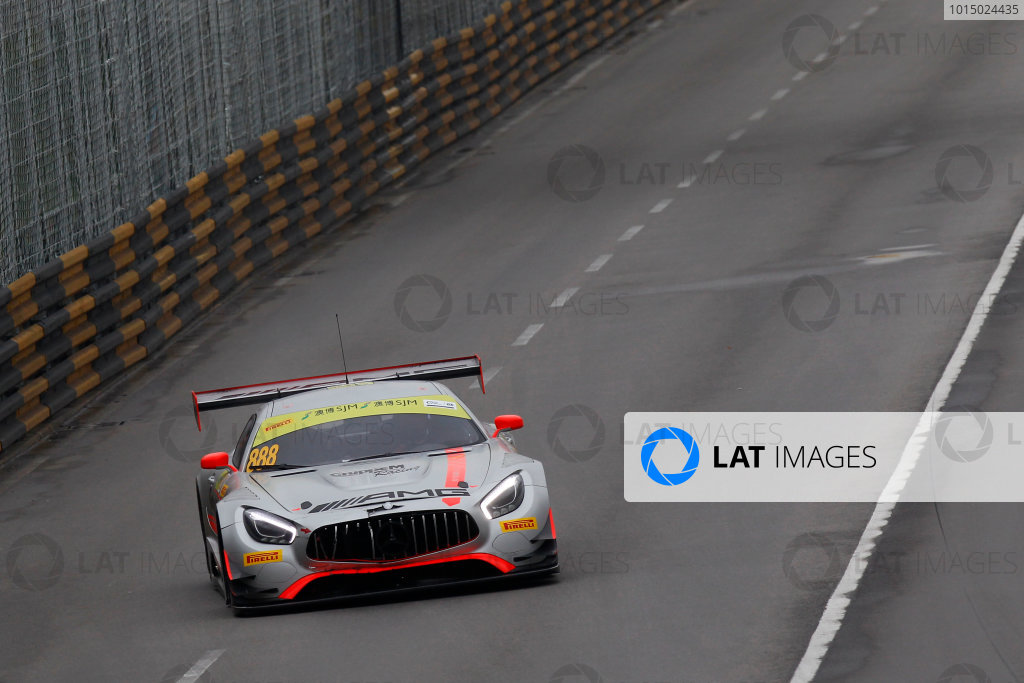 2015 FIA GT World Cup Circuit de Guia, Macau, China Sunday 19 November 2017. Raffaele Marciello, Mercedes-AMG Team GruppeM Racing, Mercedes - AMG GT3  World Copyright: Alexander Trienitz/LAT Images ref: Digital Image 2017-Macau-GP-AT1-3656