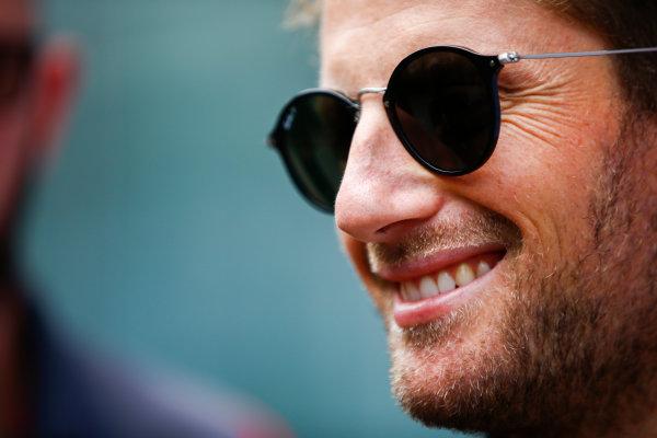 Interlagos, Sao Paulo, Brazil. Thursday 09 November 2017. Romain Grosjean, Haas F1. World Copyright: Andy Hone/LAT Images  ref: Digital Image _ONY7382
