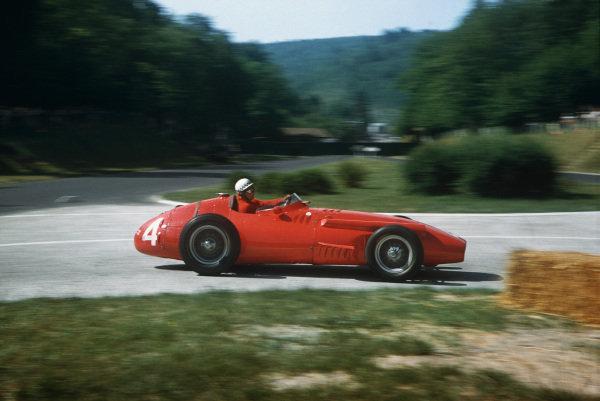Rouen-Les-Essarts, France. 5-7 July 1957. Jean Behra, Maserati 250F, 6th position. Ref: 57FRA09. World Copyright - LAT Photographic