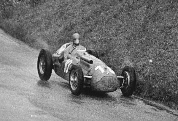 1951 Swiss Grand Prix.Bremgarten, Berne, Switzerland. 27 May 1951.Henri Louveau (Lago-Talbot T26C). Ref-C29193.World Copyright - LAT Photographic