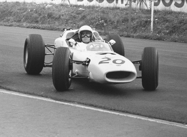 1964 German Grand PrixNurburgring, Germany. 31st July - 02nd AugustHonda take part in their first Grand Prix.World Copyright - LAT Photographic ref: B&W Negative Image no. 11098C_6a-7