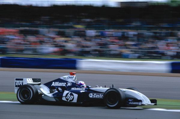 2004 British Grand PrixSilverstone England. 9th - 11th July.Juan Pablo Montoya, BMW Williams FW26. Action. World Copyright:Glenn Dunbar/LAT PhotographicRef:35mm image A12
