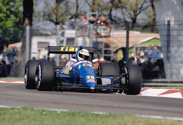 1989 San Marino Grand Prix.Imola, Italy.21-23 April 1989.Christian Danner (Rial ARC2 Ford).Ref-89 SM 02.World Copyright - LAT Photographic