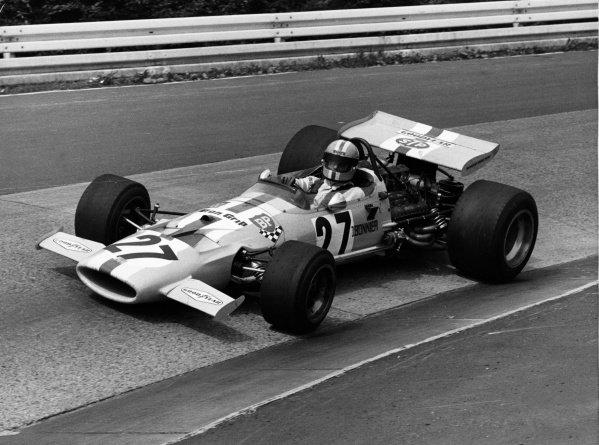 1971 German Grand Prix.Nurburgring, Germany. 30th July - 1st August 1971.Jo Bonnier (McLaren M7C Ford) DNQ, action.World Copyright: LAT PhotographicRef: L71-1293-21