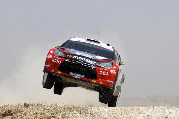 Petter Solberg (NOR) Citroen D3 WRC on stage 17. World Rally Championship, Rd4, Rally Jordan, Dead Sea, Amman, Jordan, Day 3, Saturday 16 April 2011.