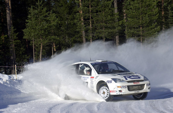 2001 World Rally Championship.   Swedish Rally. 9th - 11th February 2001. Rd 2. Francois Delecour on stage four. World Copyright: Ralph Hardwick/ LAT Photographic. Ref: Delecour3