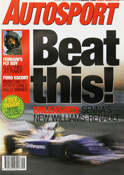 Cover of Autosport magazine, 3rd March 1994