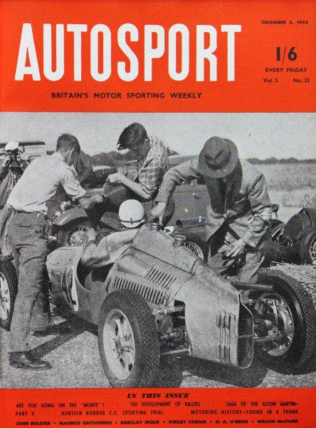 Cover of Autosport magazine, 5th December 1952