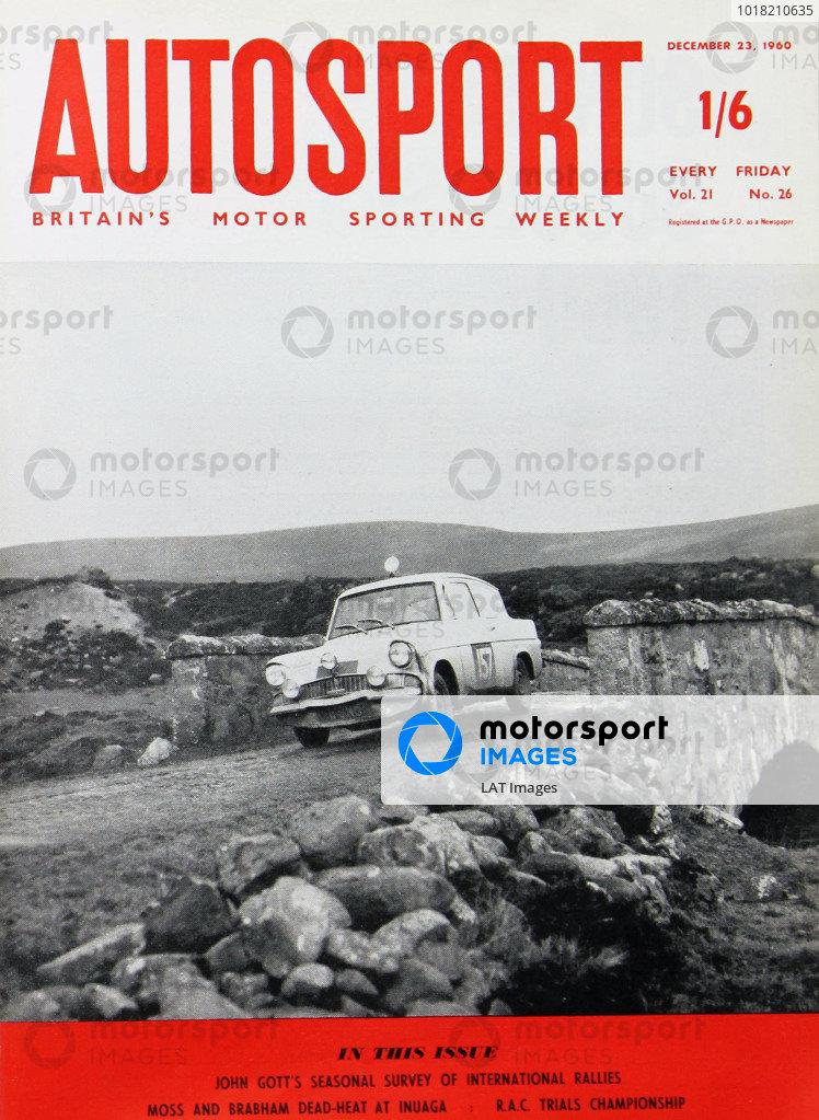 Cover of Autosport magazine, 23rd December 1960