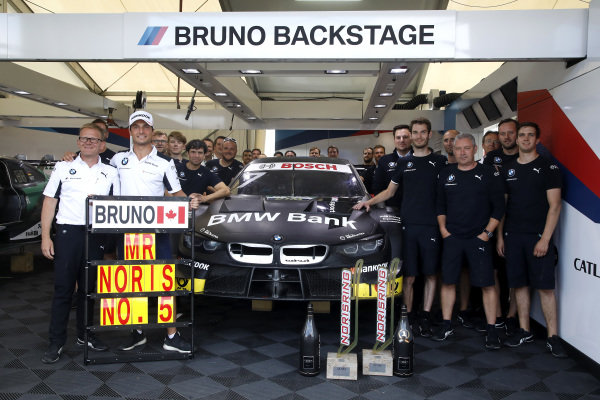 Bruno Spengler, BMW Team RMG with the team.