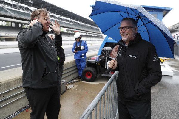 GM Vice President of Performance Vehicles and Motorsports, Jim Campbell, with HPD President Ted Klaus