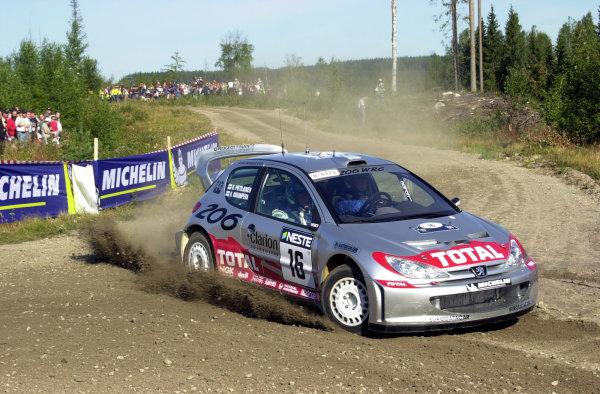 2001 World Rally Championship.Neste Rally Finland. Jyvaskyla, August 24-26, 2001.Harri Rovanpera on the first stage.Photo: Ralph Hardwick/LAT