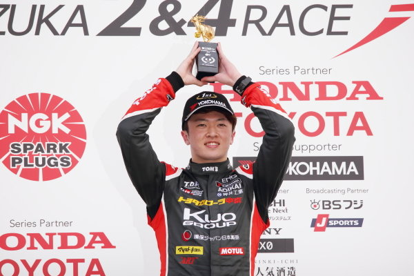 Round 2 winner Ritomo Miyata, Corolla Chukyo Kuo TOM'S Dallara F317 Toyota. Photo by Masahide Kamio