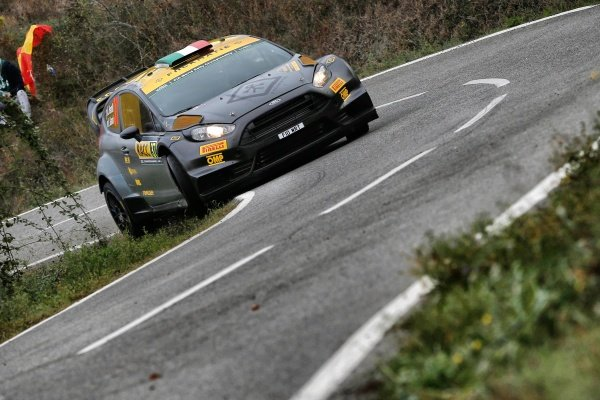 Lorenzo Bertelli (ITA) / Giovanni Bernacchini (ITA) Ford Fiesta RS at FIA World Rally Championship, Rd12, RAAC Rally de Espana, Day Two, Costa Daurada, Catalunya, Spain, 24 October 2015.
